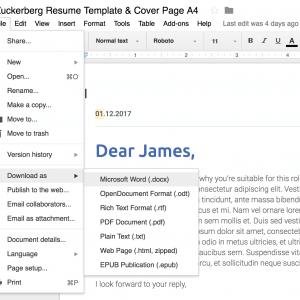 Google Doc to Word Doc