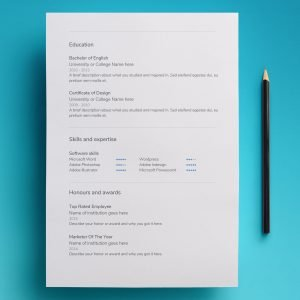 simple resume template download google docs 01