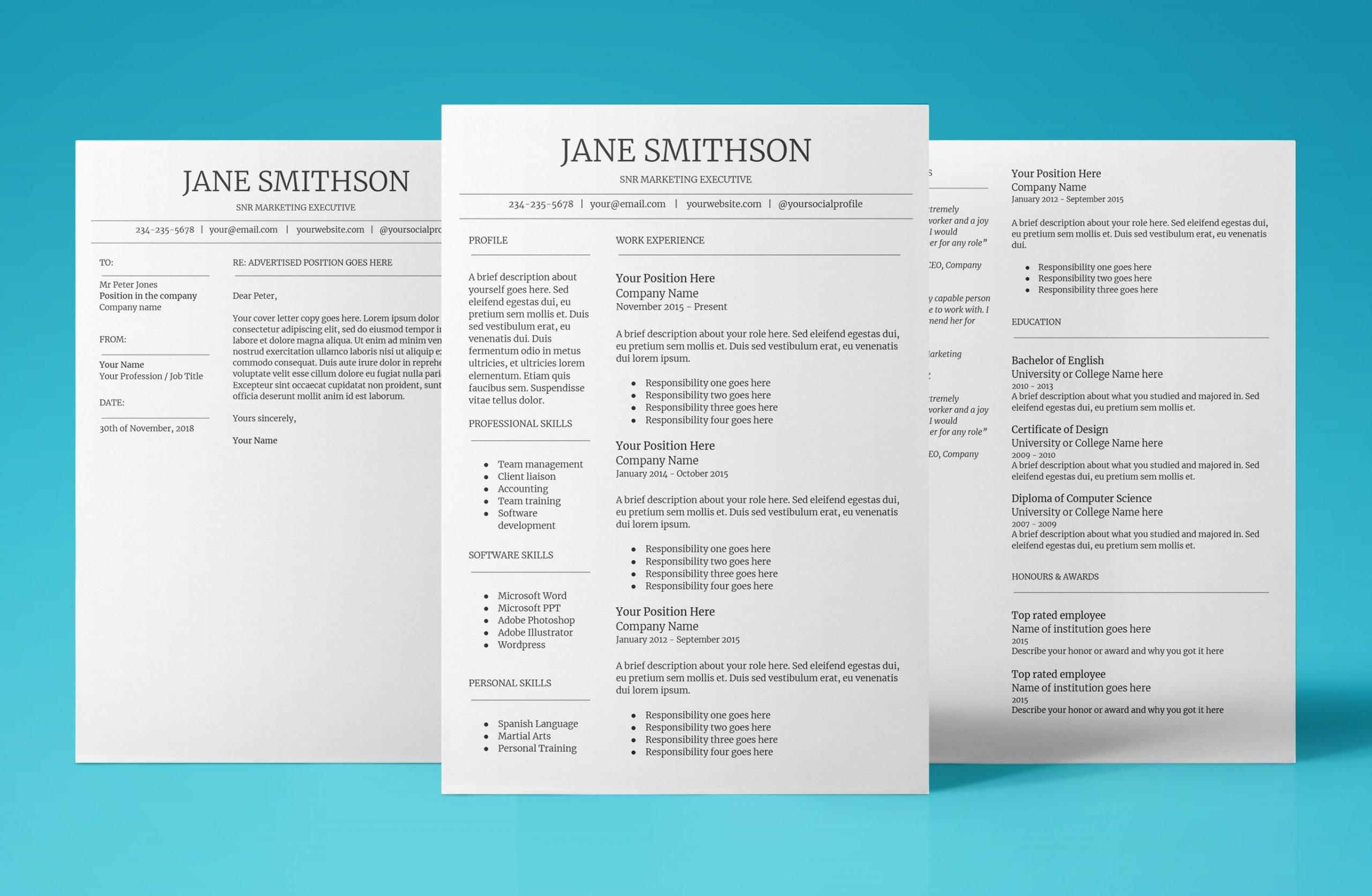 callisto resume template bundle