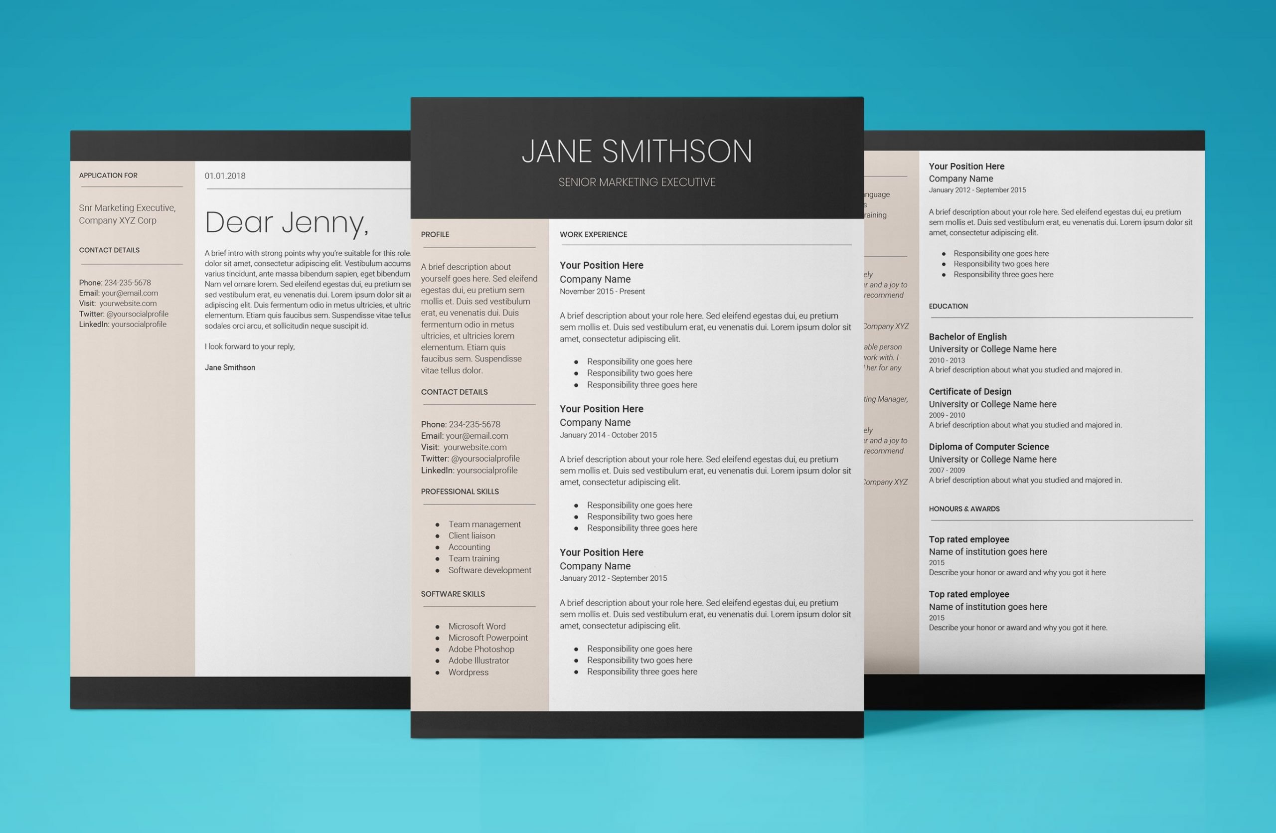 europa resume template bundle