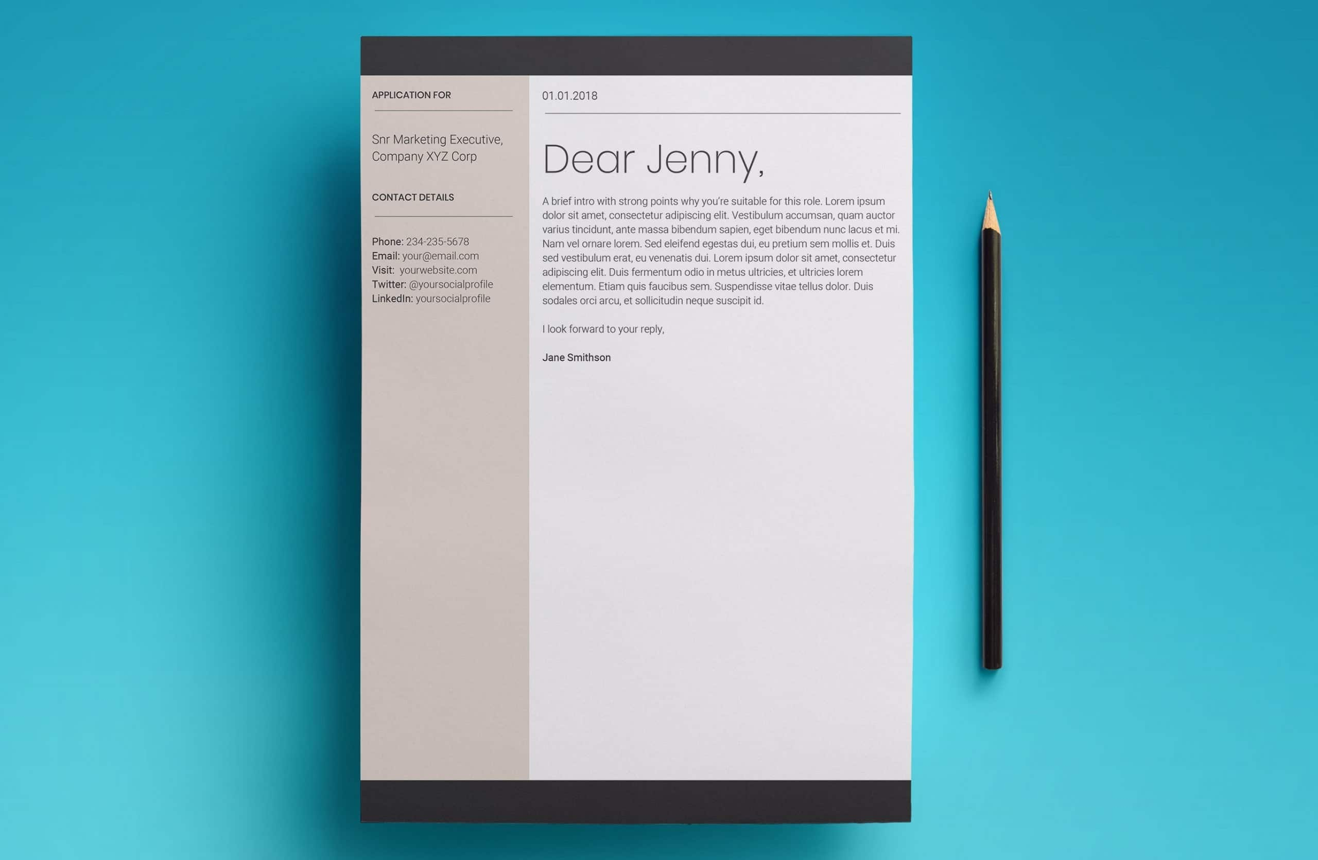 europa cover letter template