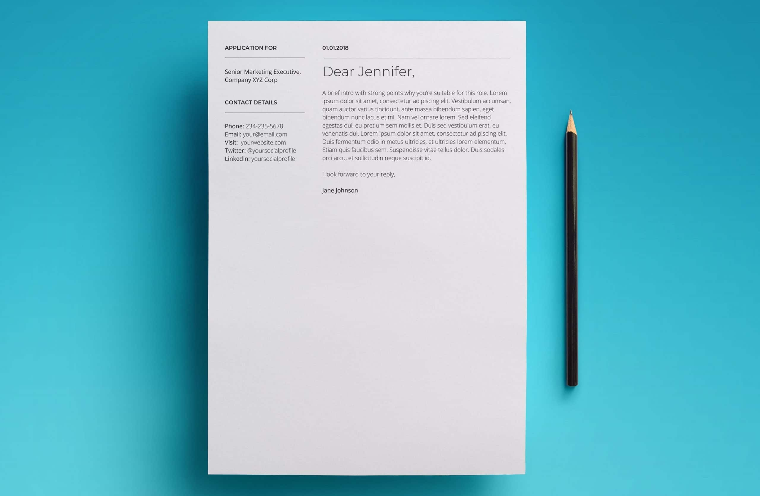 mars cover letter template