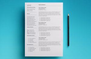 mars resume template page 1