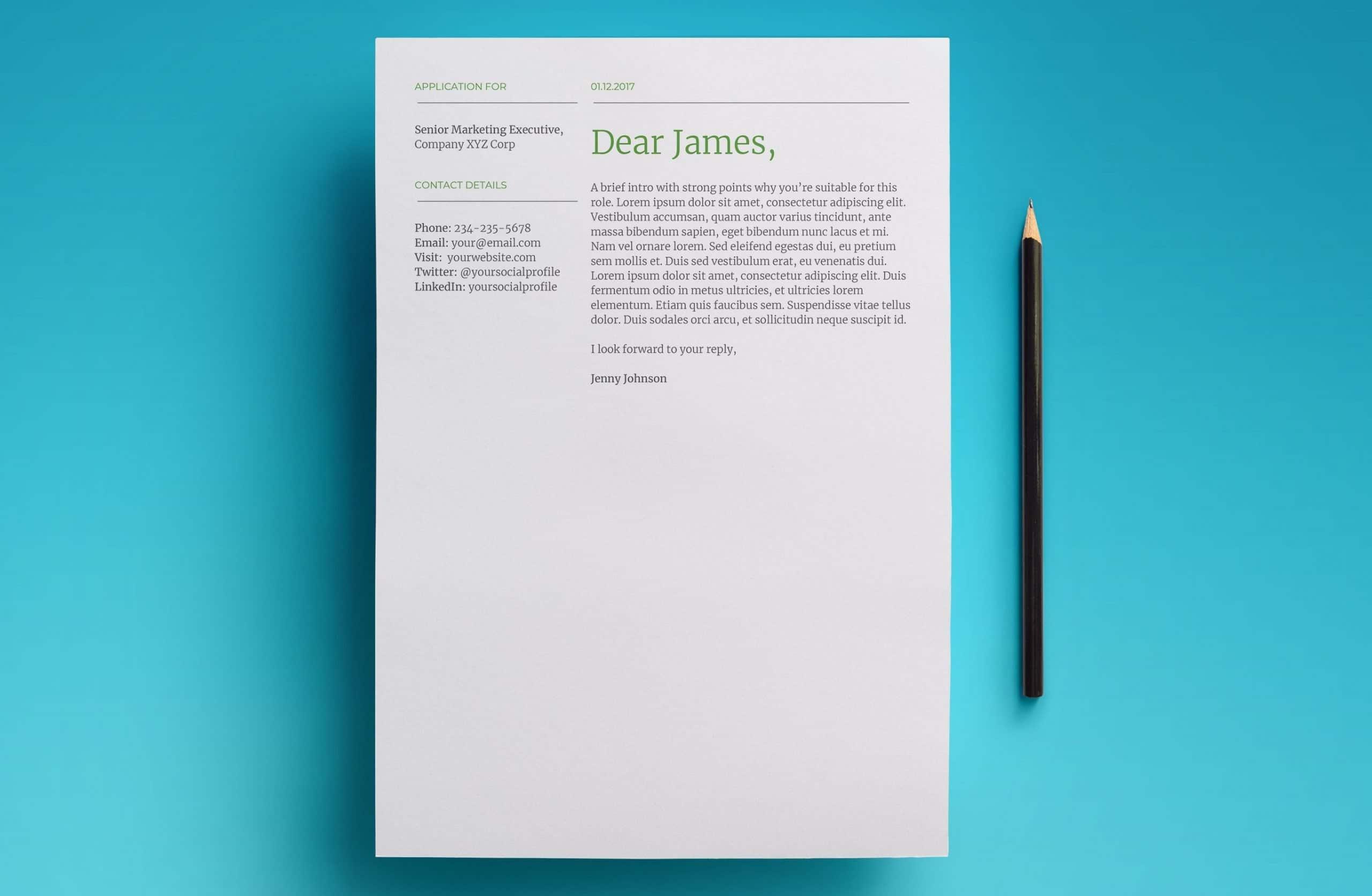 mercury cover letter