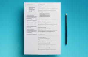 mercury resume template page 2