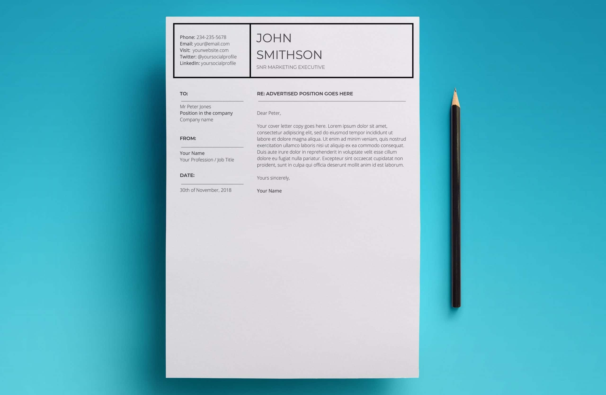 pandora cover letter template
