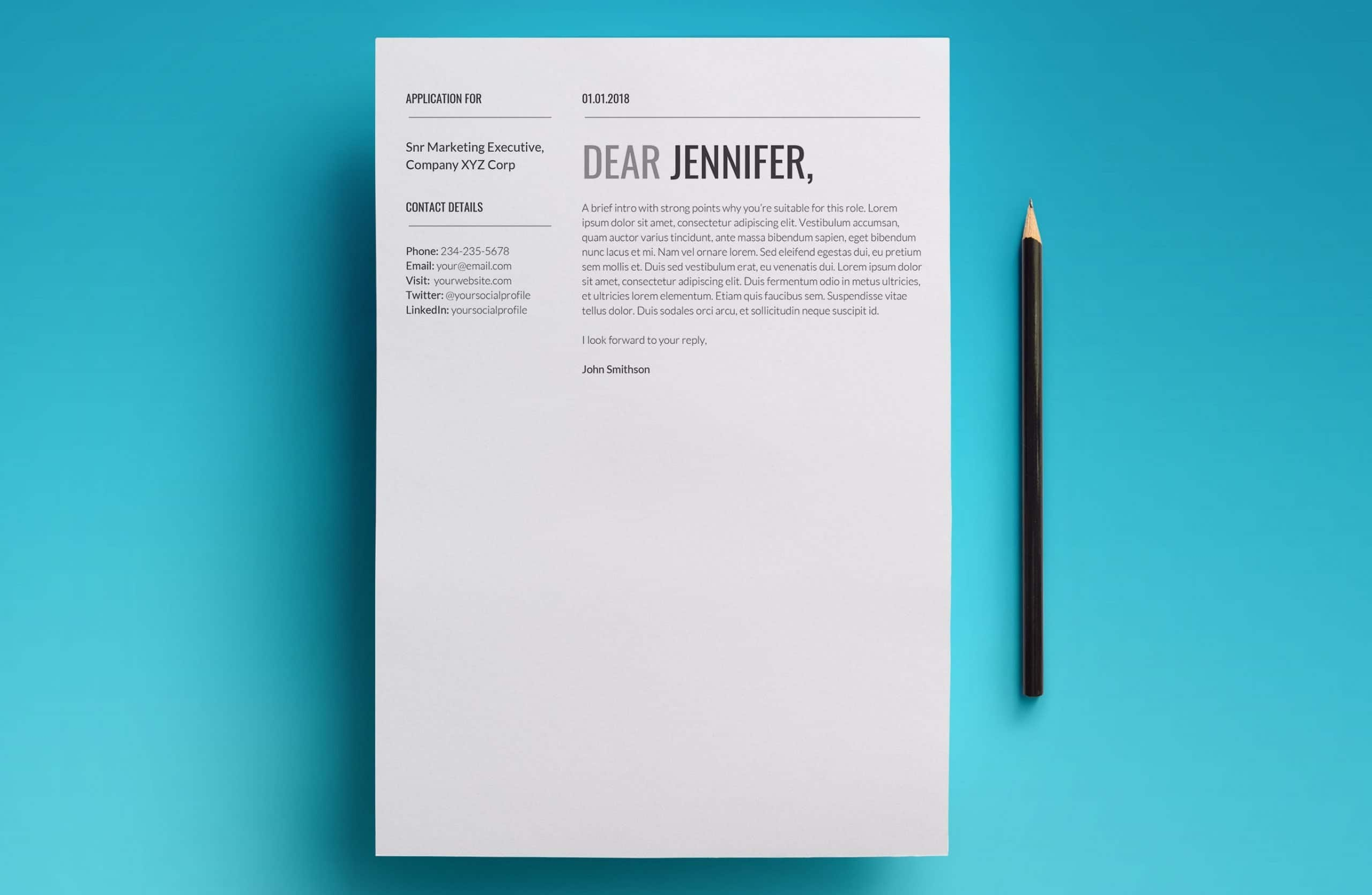 proxima cover letter template