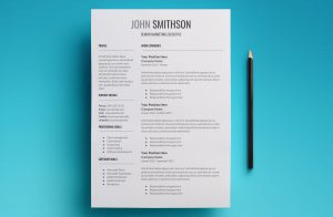 proxima resume template page 1