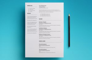 proxima resume template page 2