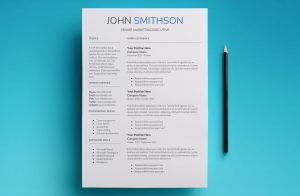 saturn resume template page 1