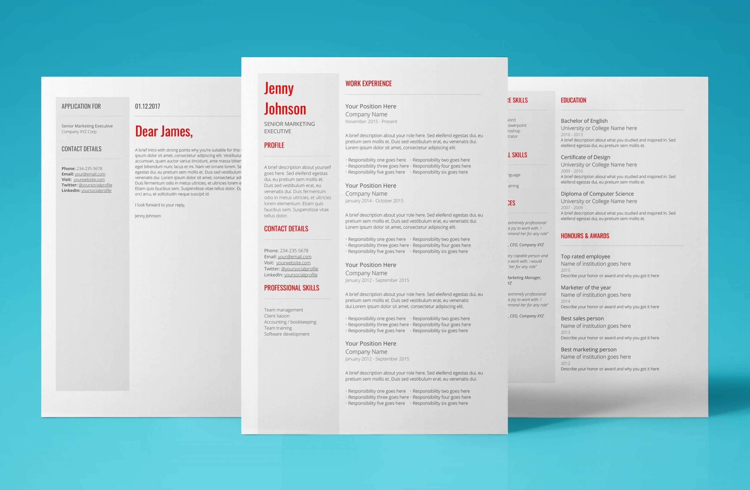 venus resume template bundle