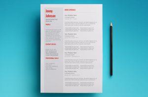 venus resume template page 1