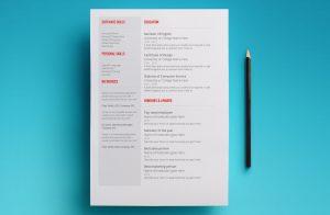 venus resume template page 2