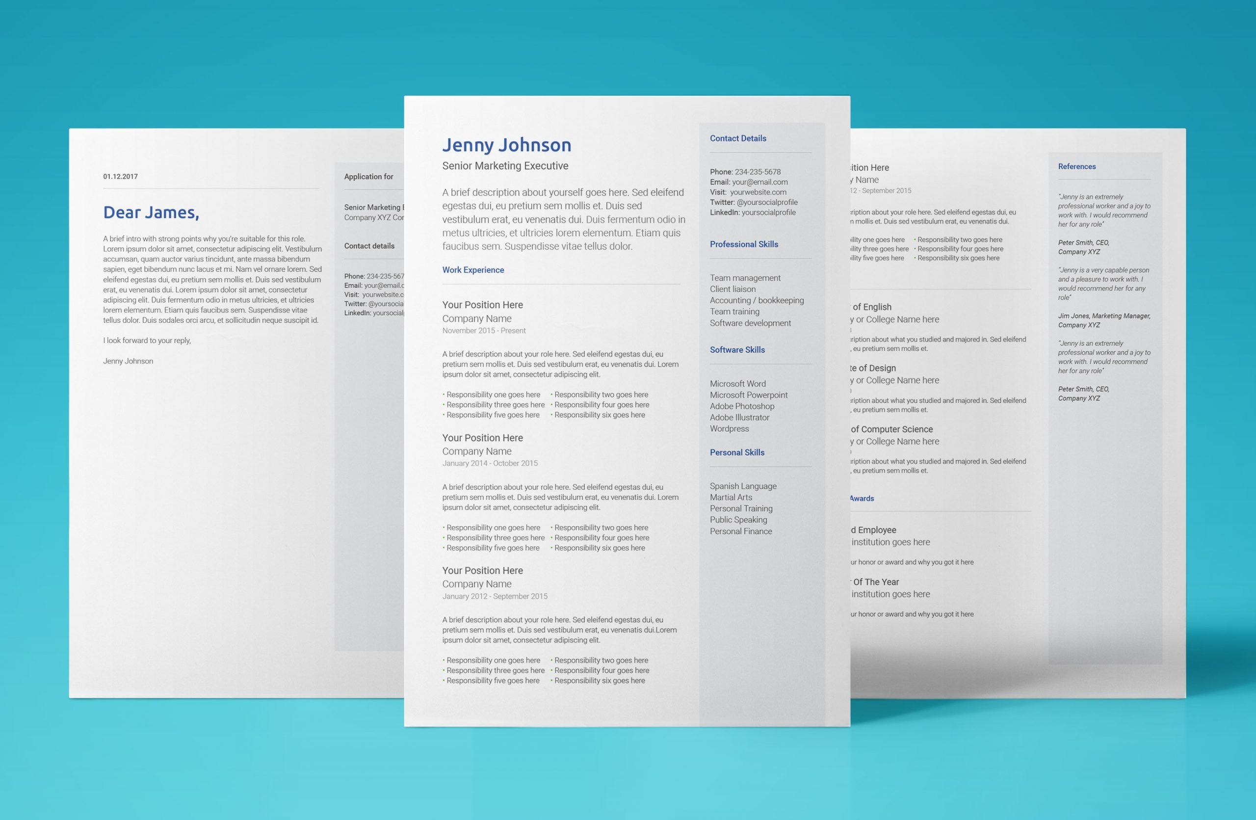 neptune resume template bundle