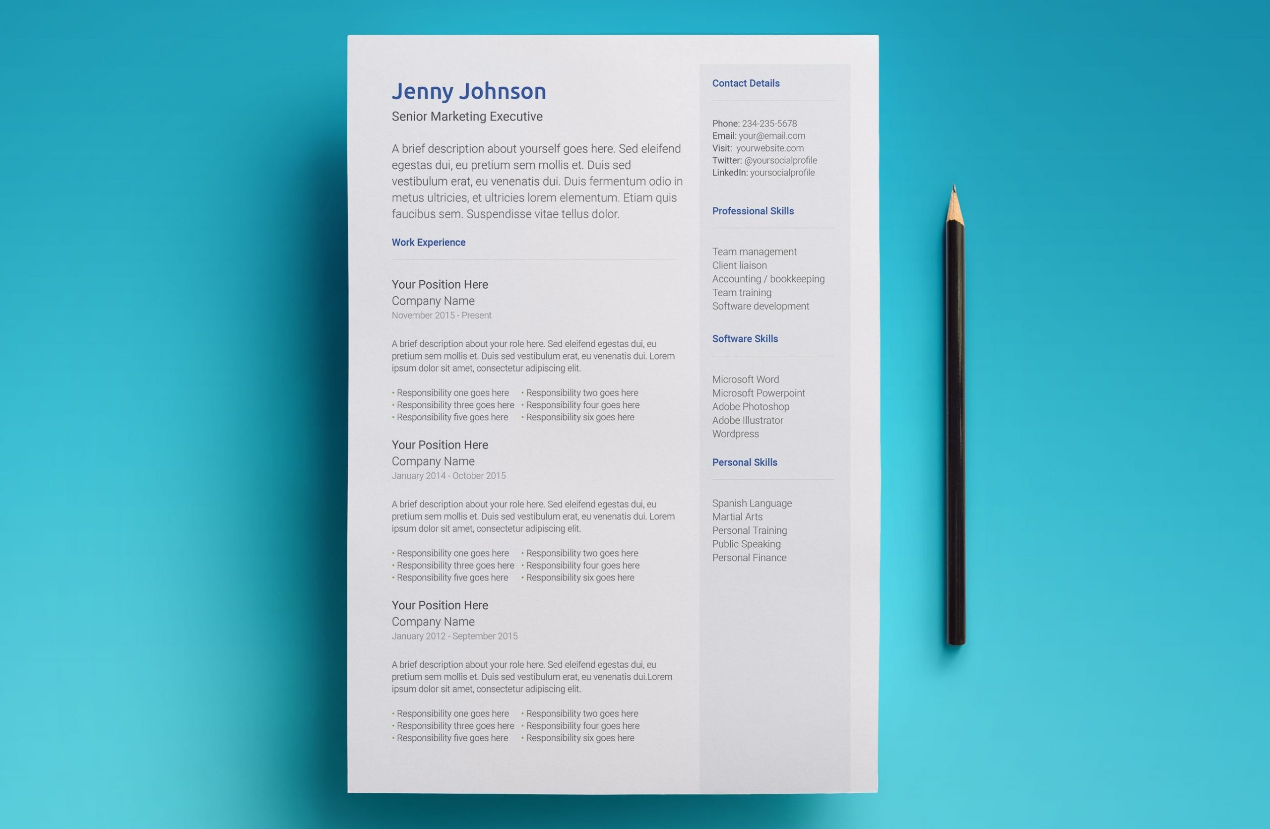 neptune resume template page 1